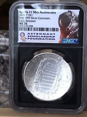 2019-P Silver $1 Apollo 11 50th Anniversary NGC MS 70 * EARLY RELEASES *