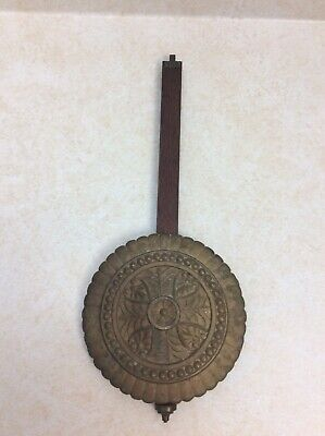 Antique Original American Fancy Designed Wall Regulator Clock Pendulum.