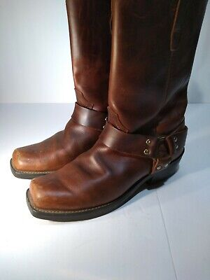 """DURANGO 11"""" HARNESS Motorcycle Boots Brown Leather DB514 Men's Size 10 D"""