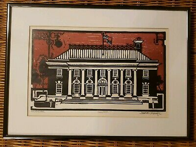 """James O'Rourke Print """"MUSEUM"""" SIGNED AND NUMBERED #366/800 MATTED FRAMED"""
