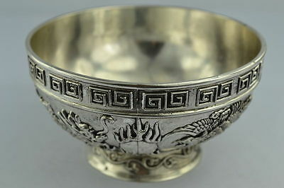 Collectibles Chinese Handwork Rare Tibet - Silver bowl z5003