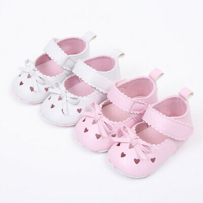 Newborn Infant Baby Girls Crib Shoes Soft Sole Anti-slip Sneakers Bowknot Shoes