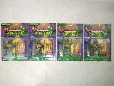 Teenage Mutant Ninja Turtles TMNT Action Figures Set of 4 1998 Playmates lot