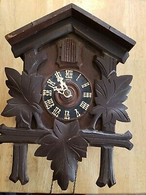 "Vintage Black Forest Cuckoo Clock Marked ""Chikago"" -Parts Or Repair-"