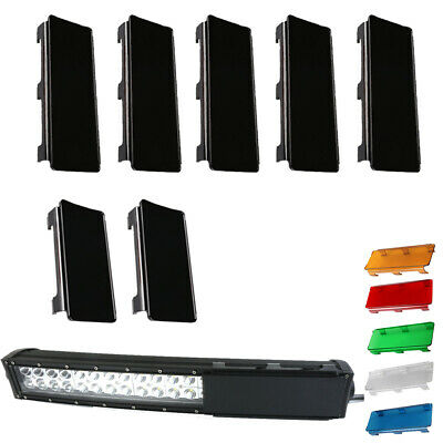 """52 inch Snap on Lens Cover 2x6"""" + 5x8"""" For Straight Curved LED Light Bar Offroad"""