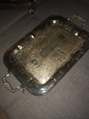 National Silver On Copper Tray # 1060