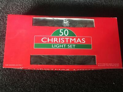 Beautiful Vintage Christmas Lights Coloured - 50 -Mirabella Collectable - As New