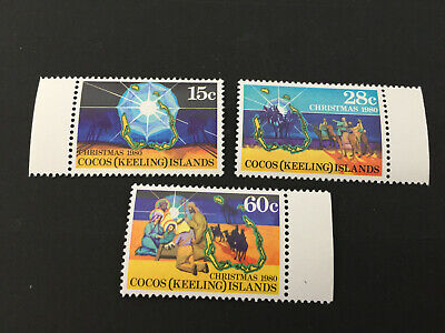 1980 Cocos Island - Christmas. Full Set of 3 stamps. Mint (MNH)