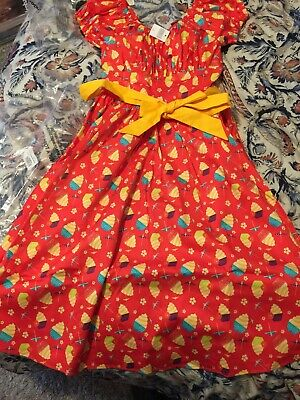 NWT Disney Parks Dole Whip Pineapple Swirl Dress