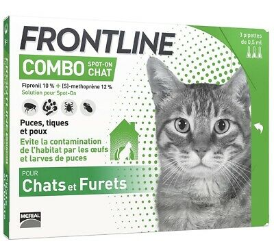 Frontline Combo Chat Spot On  - 3 pipettes Anti-puces Et Anti-tiques