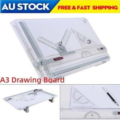 Multifuctional A3 Drawing Board Table Pad w/ Parallel Motion & Adjustable Rulers