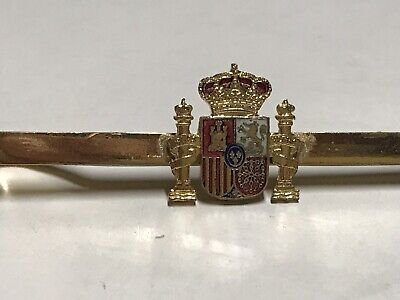 Vintage Spanish Royal Crest, Police? Tie Clip, Spain, Pin, Lapel Or Tie