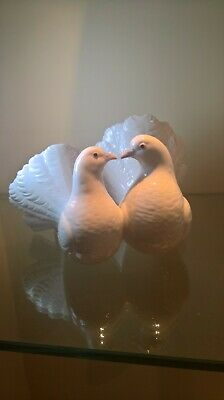 Lladro Twin White Doves Height 12 cms Width 20 cms Used, but Perfect Condition