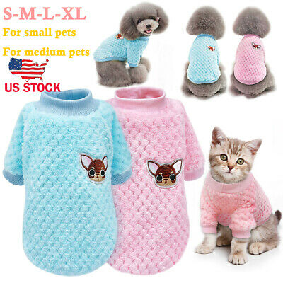 Pet Dog Cat Warm Knitted Sweater Puppy Kitty Jumper Clothes For Chihuahua Yorkie