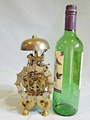 "Ultra Rare ""Miniature"" Double Fusee Skeleton Clock & Dome."