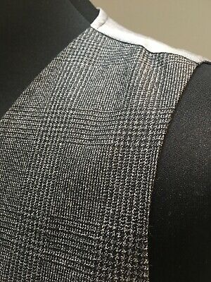 Men's Alfred Brown Tailored 44 Reg XL Grey Waistcoat Wool Exclusive Quality