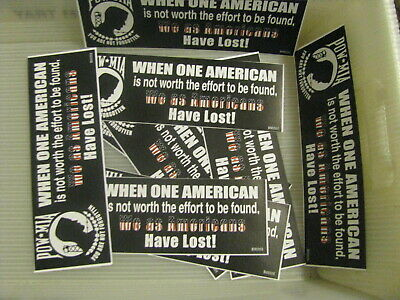WHOLESALE Lot of 12 pieces Bumper Sticker 3X9 POW/Mia WE have lost