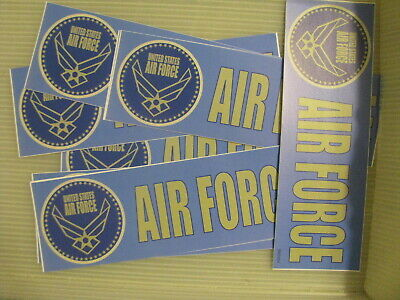 WHOLESALE Lot of 12 pieces Bumper Sticker 3X9 US AIR FORCE USAF