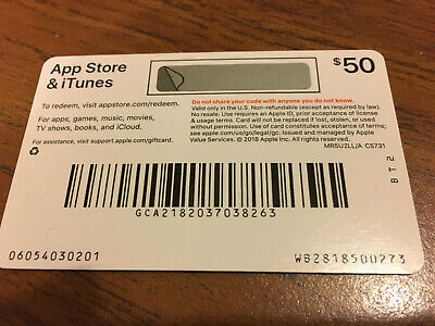 Apple Store & iTunes $50 Gift Card - new and never used