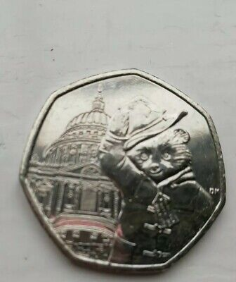 Paddington Bear at St.Pauls 50p Circulated coin- In very good condition