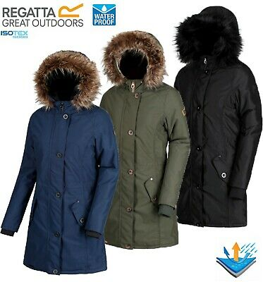 Regatta Ladies SAFFIRA Insulated Waterproof Breathable Jacket Coat Womens