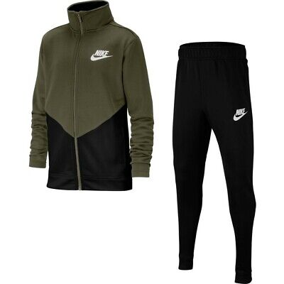 Nike Junior BoysFashion Sportswear Lifestyle Tracksuit Track suit Khaki Black