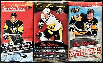 3 Pack Lot 2016-17, 2017-18 2019-20 UD Tim Hortons Collector Hockey Sealed Packs
