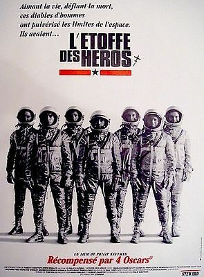 Affiche Pliée 120x160cm L'ETOFFE DES HÉROS /THE RIGHT STUFF 1983 Shepard, Glenn