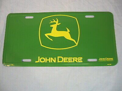 John Deere Metal Advertising License Plate