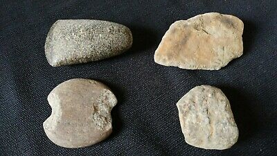 Native American Paleo Artifacts Stone Tools Celt Axe / Hammer Head Stones LOT#5
