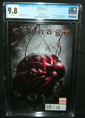 Carnage #1 - Clayton Crain Variant - 1st Doctor Tanis Nieves - CGC 9.8 - 2010