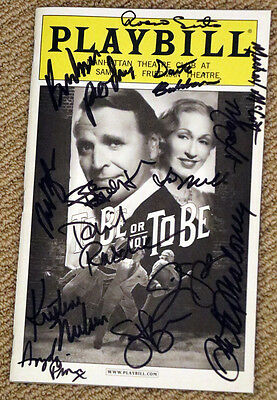 TO BE OR NOT TO BE autographed BROADWAY PLAYBILL signed by cast PETER BENSON
