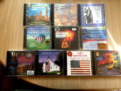 Job Lot Of 10 SEALED CDs Various U.S. Classical Composers (1 cracked case) Lot J