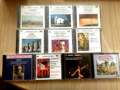 Job Lot Of 10 CDs (8 Sealed) Various American Classical Composers Lot H