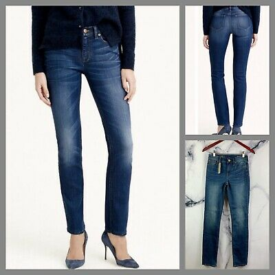 J. CREW Womens Reid Skinny Straight Fit  In Old Glory Wash Jeans Size 25 NWT