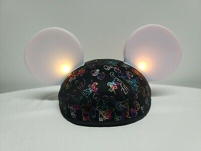 Disney World Parks Mickey Mouse Ears Made with Magic Ear Hat Light-Up Glow