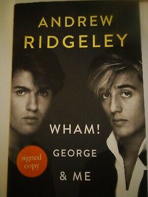 """Wham! """"George and Me"""" Andrew Ridgeley Stencilled Edge Signed 1st Edition New"""