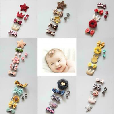 7pcs/set Kids Baby Girl Hair Clips Bow Hairpin Headband Headwea Accessories A3C5
