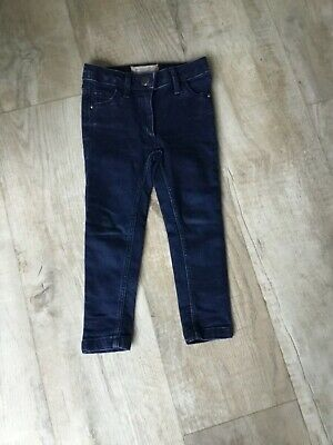 NEXT Girls Blue Skinny Jeans Age 3 Years adjustable waist