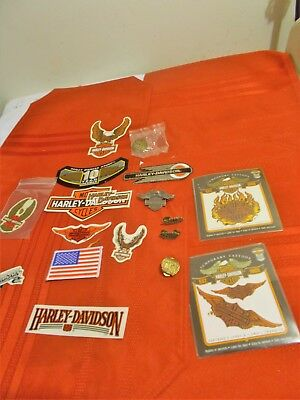 Collection of Temp Tattoos, Pins,Patches,Stickers Harley Davidson