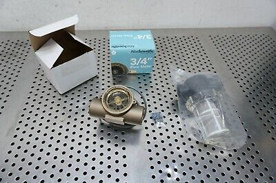 "Atlantic scientific flow meter 3/4"" food, gasoline, diesel, kerosene safe"