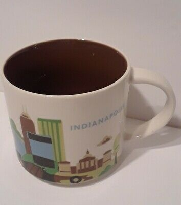2015 Starbucks INDIANAPOLIS Coffee Mug You Are Here Collection 14 ounces