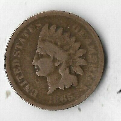 Rare Old Antique US 1865 Indian Head Cent Penny USA Civil War Collection Coin PA