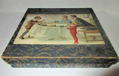 antique TOY TRAIN box ONLY,GREAT PIECE TO ADD TO YOUR PRIMITIVE CHRISTMAS DECOR