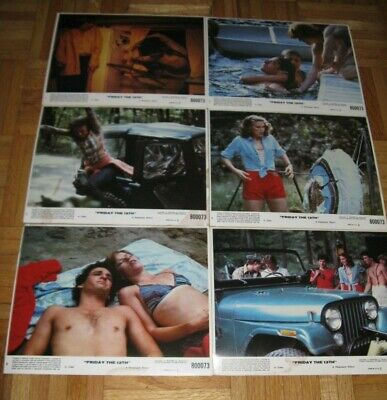 """""""FRIDAY THE 13th"""" 6 ORIGINAL LOBBY CARDS CLASSIC 1980 HORROR FILM BEST PRICE"""