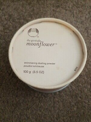 Discontinued Body Shop Spirit of Moonflower 100g Shimmering Dusting Powder.