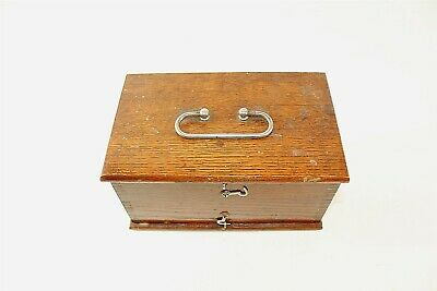 Vintage Quack Medical Therapy Device in Oak Box Non Working Collectible