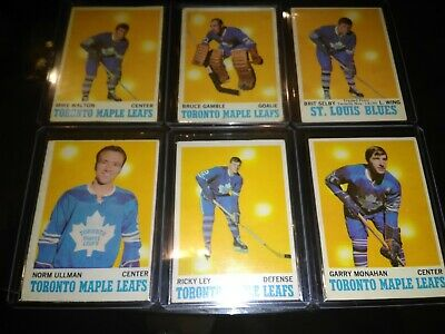 1970-71 OPC O-PEE-CHEE Hockey Maple Leafs lot of 6 Selby Walton Gamble Ullman