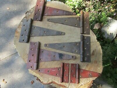 Opportunity Lot 7 Antique Vintage Barn Door Hinges Reclaimed Salvaged Hardware