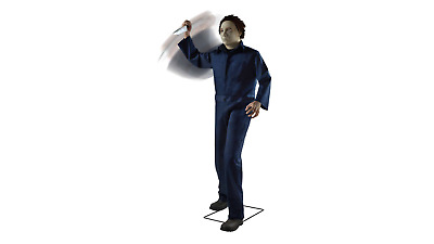 Rare H20 Halloween Animated Life-size Michael Myers Animated Prop With Knife